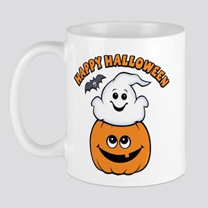 Ghost In Pumpkin Mug
